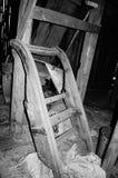 Pequeno trenó preto e branco Imagens de Stock Royalty Free