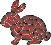 Pequeno, velocidade, selvagem, coelho Projeto ilustração do vetor