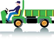 Pequeño camión para uso general verde Imagen de archivo