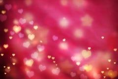 Pequeño fondo de los corazones Foto de archivo