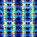 Pequeño fondo geométrico inconsútil coloreado brillante de los polígonos Fotos de archivo libres de regalías