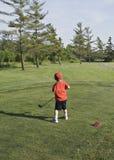 Pequeño golfista Fotografía de archivo libre de regalías