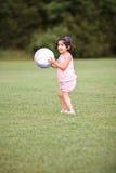 Pequeño jugador de fútbol Imágenes de archivo libres de regalías