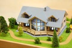Pequeño modelo de la cabaña Foto de archivo