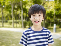 Pequeño muchacho asiático Foto de archivo libre de regalías