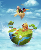 Pequeño planeta Imagen de archivo libre de regalías