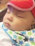 Pequeño soñador del bebé Fotografía de archivo
