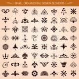 Pequeño vector ornamental de los elementos del diseño Fotografía de archivo libre de regalías