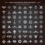 Pequeño vector ornamental de los elementos del diseño Imagen de archivo libre de regalías