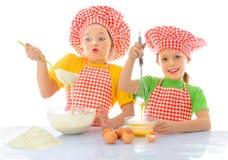 Pequeños panaderos sucios Fotografía de archivo libre de regalías