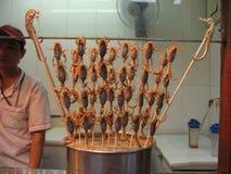 Pequim, alimento da rua, fast food asiático, avenida Tian An-Men Foto de Stock Royalty Free
