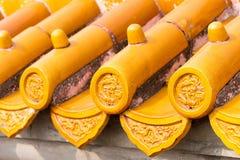 PEQUIM, CHINA - 18 de outubro de 2015: Telhado no templo da terra (Ditan) A Imagens de Stock Royalty Free