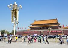 Pequim, Praça de Tiananmen, a Cidade Proibida Fotos de Stock