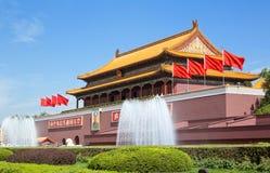 Pequim, Praça de Tiananmen, a Cidade Proibida Foto de Stock