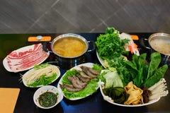 Pequim quente chinês China do restaurante do potenciômetro Imagens de Stock