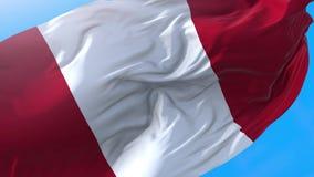 Perù waving flag.