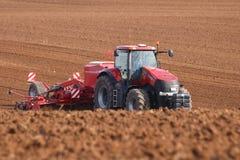 Perçage de tracteur de magnum du cas IH en Allemagne image libre de droits