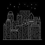 Perímetro urbano moderno arte da noite ilustração royalty free