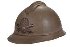 Período do capacete WW1 do russo Imagens de Stock