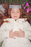 Período mágico do sono da princesa Imagem de Stock