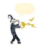 período retro da carcaça do feiticeiro dos desenhos animados Imagens de Stock