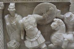 Período romano Cladius Severinus y sarcófago A de Berenice D 2 Foto de archivo libre de regalías