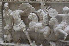 Período romano Cladius Severinus y sarcófago A de Berenice D 2 Foto de archivo