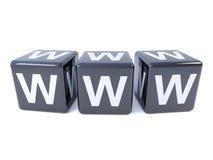 período WWW dos dados do preto 3d Imagens de Stock