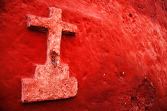 Perú, cruz católica Fotos de archivo