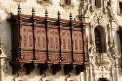 Perú, Lima, palacio de Arzobispal imagen de archivo