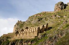 Perú, ruinas del inca de Pinkulluna foto de archivo