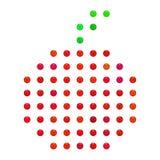Perła, cukierek taranuje owocowego kształt Zdjęcie Stock