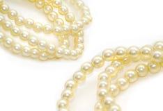 perły odosobnione białe Fotografia Stock