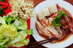 Per carne di maiale marinata arrostita Immagini Stock Libere da Diritti