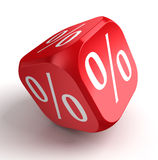 Per cent conceptual red dice Royalty Free Stock Photo