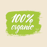 100 per cent organic. Vector eps 10 Stock Photography