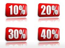 10 20 30 40 per cento Immagini Stock Libere da Diritti