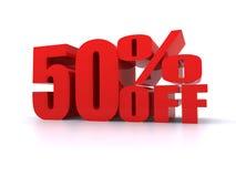 Per cento di 50% fuori dal segno promozionale Immagine Stock Libera da Diritti