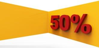 50 per cento di affari del fondo di concetto Immagini Stock