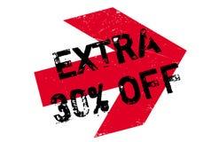 30 per cento extra fuori dal timbro di gomma Fotografie Stock Libere da Diritti