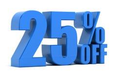 25 per cento fuori Immagini Stock