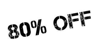80 per cento fuori dal timbro di gomma illustrazione vettoriale