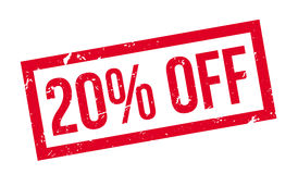 20 per cento fuori dal timbro di gomma Fotografie Stock