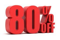 80 per cento fuori dalla promozione illustrazione di stock