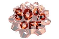 80 per cento fuori evidenziati contro il contesto di una curvatura rossa del regalo royalty illustrazione gratis