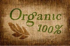 100 per cento naturali sulla tela di lerciume Immagine Stock