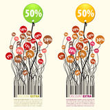 Per cento supplementari di sconto di promozione 50 Immagini Stock Libere da Diritti