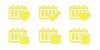 per fare concetto della raccolta dell'icona della lista Fotografia Stock Libera da Diritti