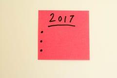 per fare lista per il nuovo anno nel rosa Immagini Stock Libere da Diritti