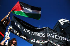 Per i childs in Palestina Fotografia Stock